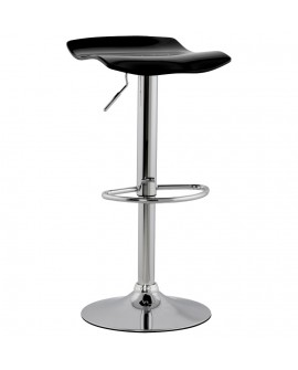 Tabouret de bar design SURF BLACK 39x42x84 cm
