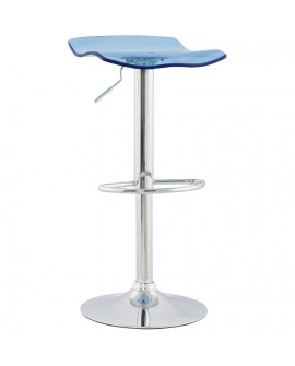 Tabouret de bar design SURF BLUE 39x42x84 cm
