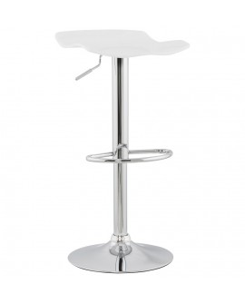 Tabouret de bar design SURF WHITE 39x42x84 cm
