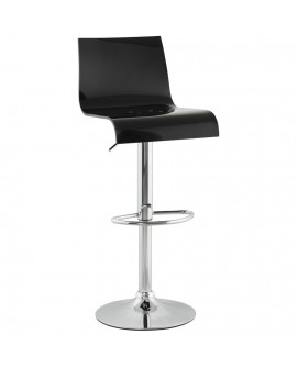 Tabouret de bar design PLEXI BLACK 41x44x104 cm