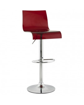 Tabouret de bar design PLEXI RED 41x44x104 cm
