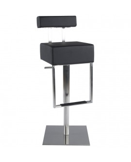 Tabouret de bar design CUBO BLACK 40x49x110 cm