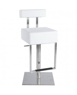 Tabouret de bar design CUBO WHITE 40x49x110 cm