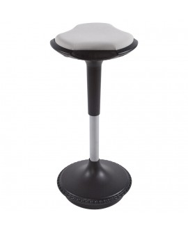 Tabouret de bar design AMA GREY 33x33x73 cm
