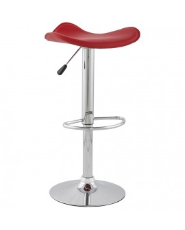 Tabouret de bar design TRIO RED 44x44x84 cm