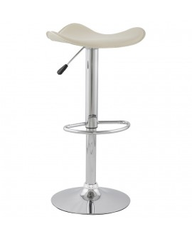 Tabouret de bar design TRIO CREAM 44x44x84 cm