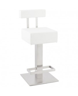 Tabouret de bar design NOBLE MINI WHITE 40x45x90 cm