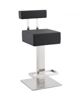 Tabouret de bar design NOBLE MINI BLACK 40x45x90 cm