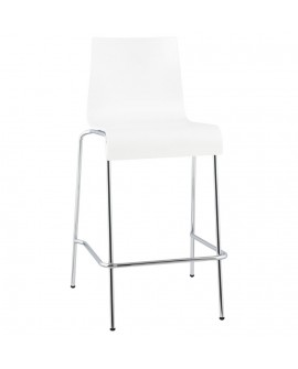 Tabouret de bar design COBE WHITE 50x54x94 cm