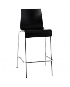 Tabouret de bar design COBE BLACK 50x54x94 cm