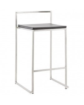 Tabouret de bar design METO BLACK 41x44x76,5 cm
