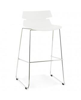 Tabouret de bar design RENY WHITE 51x54x98 cm