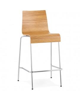 Tabouret de bar design COBE ZEBRANO 50x54x94 cm