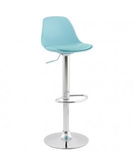 Tabouret de bar design SUKI BLUE 39x42x104 cm