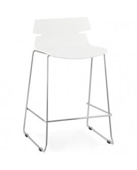 Tabouret de bar design RENY WHITE 47x51x85 cm