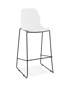 Tabouret de bar design ZIGGY WHITE 52x51,5x111 cm