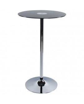 table bar design STAND BLACK 65x65x110 cm