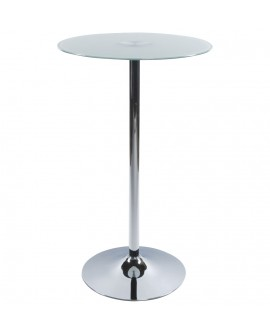 table bar design STAND WHITE 65x65x110 cm