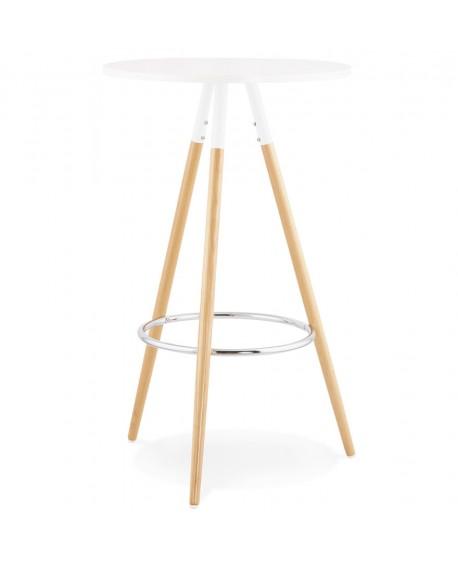 Table bar design LARRY WHITE 65x65x101 cm