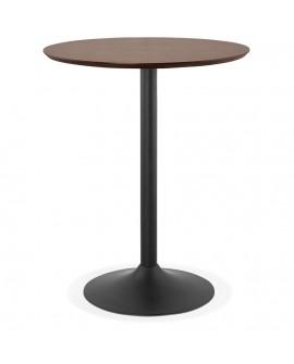 Table bar design PINCHO WALNUT 90x90x110 cm