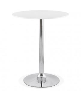 Table bar design LYNN WHITE 90x90x110 cm