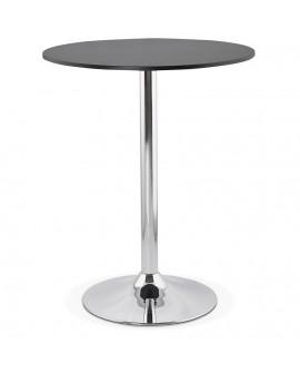 Table bar design LYNN BLACK 90x90x110 cm