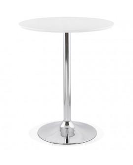 Table bar design ATAA WHITE 90x90x110 cm