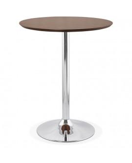 Table bar design ATAA WALNUT 90x90x110 cm