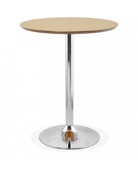Table bar design ATAA NATURAL 90x90x110 cm