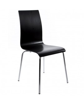 chaise design (non empilable) CLASSIC BLACK 41x48x88 cm
