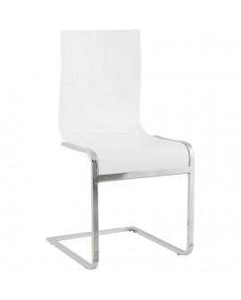 chaise design (non empilable) SOFT WHITE 45x51x90 cm