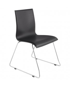 chaise design (non empilable) GLASGOW BLACK 51x60x84 cm