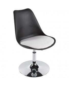 chaise design VICTORIA BLACK 48x54x85 cm