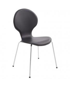 chaise design VLIND BLACK 49x51x86 cm