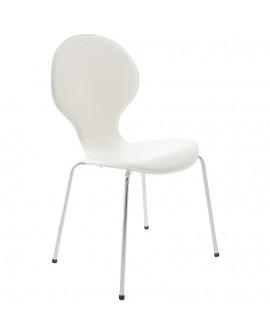 chaise design VLIND WHITE 49x51x86 cm