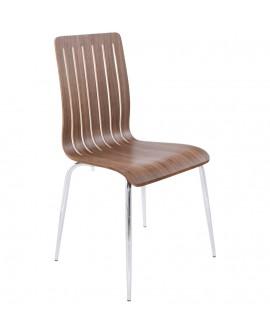 chaise design (non empilable) STRICTO WALNUT 47x49x87 cm