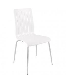 chaise design (non empilable) STRICTO WHITE 47x49x87 cm