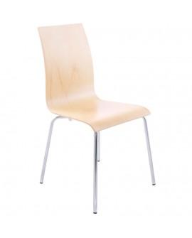 chaise design (non empilable) CLASSIC NATURAL 41x48x88 cm