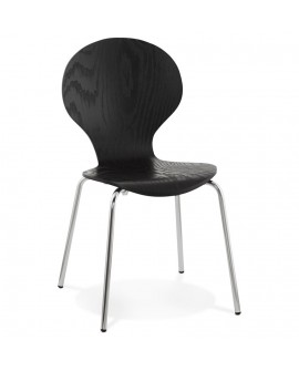 Chaise design PERRY BLACK 47x52x85 cm