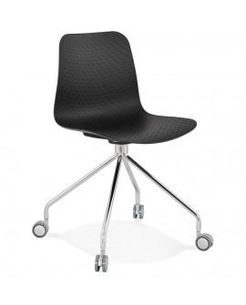 Chaise design RULLE BLACK 47x49x80 cm
