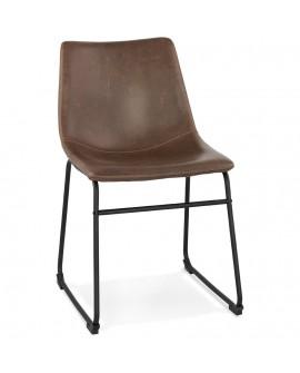Chaise design BIFF BROWN 50x49x79 cm