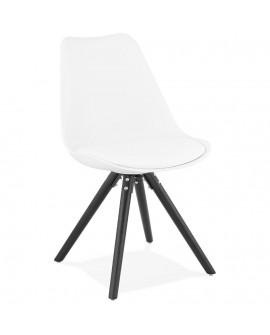 Chaise design MOMO WHITE 48x56x82 cm