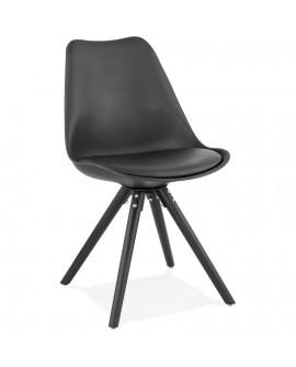 Chaise design MOMO BLACK 48x56x82 cm