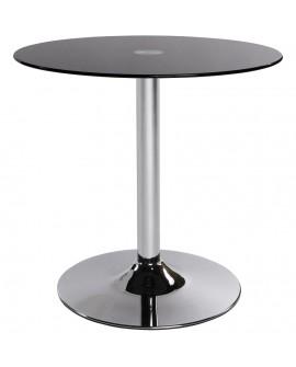 table basse design VINYL BLACK 70x70x70 cm