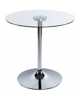 table basse design VINYL CLEAR 70x70x70 cm