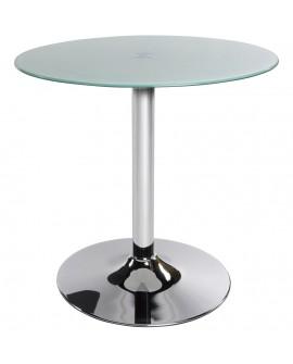 table basse design VINYL WHITE 70x70x70 cm