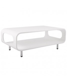table basse design SEVENTY WHITE 49x85x33 cm