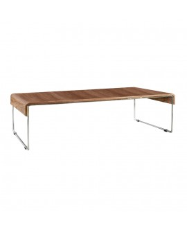 table basse design HORTA WALNUT 60x121x33 cm