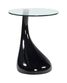 table basse design TEAR BLACK 45x45x54 cm