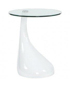 table basse design TEAR WHITE 45x45x54 cm